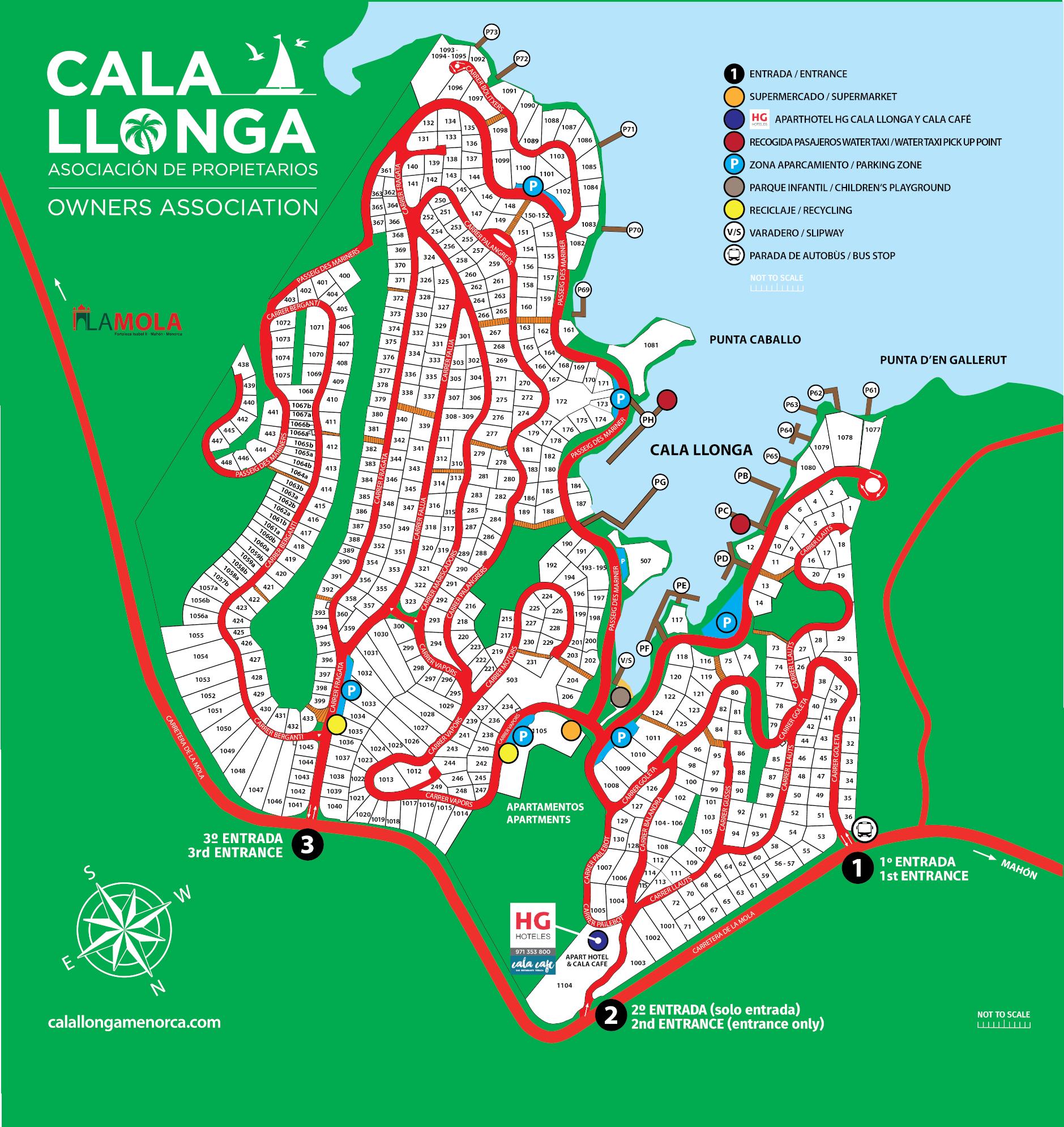 Mapa De Menorca Calas.Mapa Detallado Cala Llonga Menorca Asociacion De